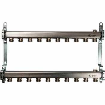 Stout Коллектор из нержавеющей стали для радиаторной разводки 10 вых. SMS 0923 000010