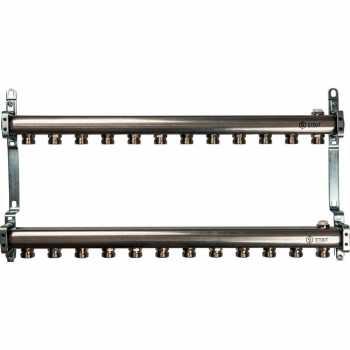 Stout Коллектор из нержавеющей стали для радиаторной разводки 12 вых. SMS 0923 000012