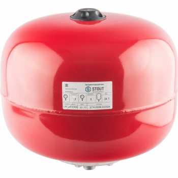 Stout Расширительный бак на отопление 24 л. (цвет красный) STH-0006-000024