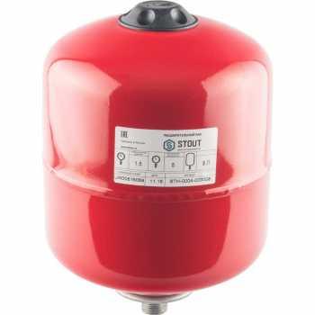 Stout Расширительный бак на отопление 8 л. (цвет красный STH-0004-000008