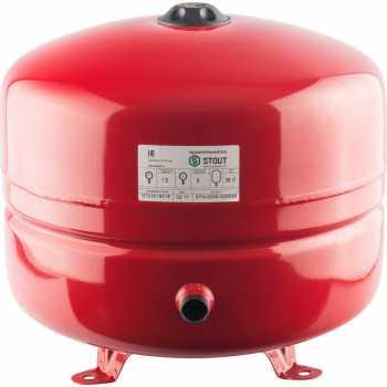Stout Расширительный бак на отопление 35 л. (цвет красный) STH-0005-000035