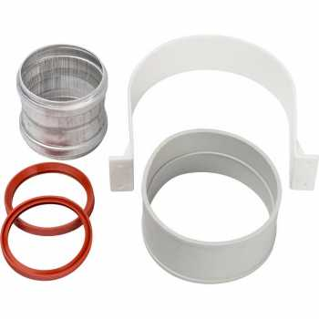 Stout Элемент дымохода  для соединеия труб  DN60/100, м/м соед. муфта с уплотнен,хомут с муфтой EPDM в комплекте.(с лого.) SCA-6010-000002