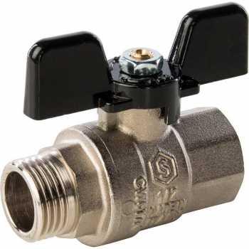 Stout Кран шаровой полнопроходной, ВР/НР, ручка бабочка 1/2 SVB-0004-000015