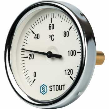 """Stout Термометр биметаллический с погружной гильзой. Корпус Dn 80 мм, гильза 50 мм 1/2"""" SIM-0001-805015"""