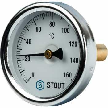 """Stout Термометр биметаллический с погружной гильзой. Корпус Dn 63 мм, гильза 50 мм 1/2"""" 160 SIM-0002-635015"""