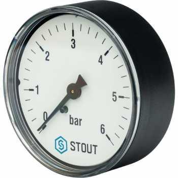 "Stout Манометр аксиальный. Корпус Dn 63 мм 1/4"" 6 Bar SIM-0009-630608"