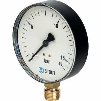 """Stout Манометр радиальный. Корпус Dn 100 мм 1/2"""" SIM-0010-101615"""