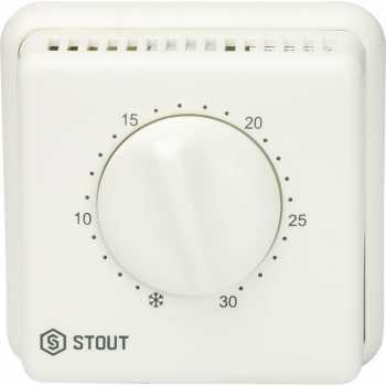 Stout Комнатный проводной термостат TI-N с переключателем зима-лето и светодиодом STE-0001-000001