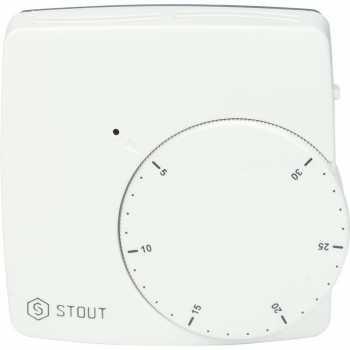 Stout Термостат комнатный электронный WFHT-DUAL включ. дистанционный датчик «в пол» L=3 м STE-0002-000010