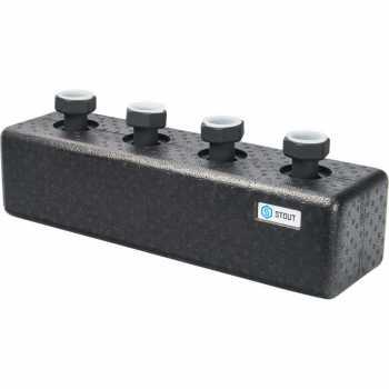 Stout Стальной распределительный коллектор 2 отопительных контура. В теплоизоляции DN 25 SDG-0016-004002