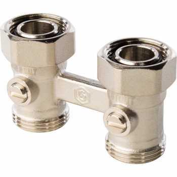 Stout Узел нижнего подключения радиатора для двухтрубной системы, прямой 3/4 SVH 0002 000020