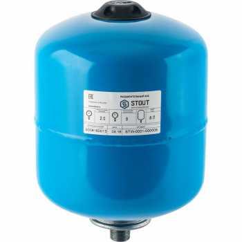 Stout Расширительный бак, гидроаккумулятор 8 л. вертикальный (цвет синий) STW-0001-000008