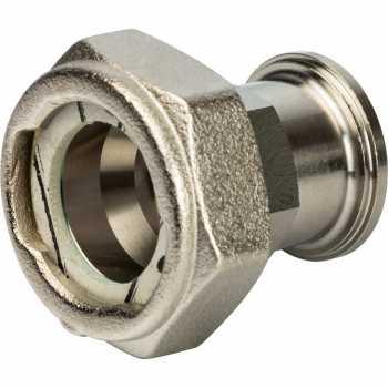 """Stout Разъемное соединение с плоским уплотнением и обратным клапаном, никелированное 3/4"""" SDG-0019-020020"""