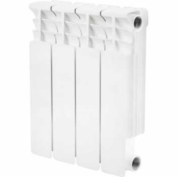 Stout Space 350 4 секции радиатор биметаллический боковое подключение SRB-0310-035004