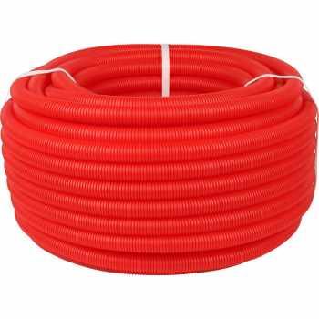 Stout Труба гофрированная ПНД, цвет красный, наружным диаметром 25 мм для труб диаметром 16-22 мм, длина 50 м SPG-0002-502520