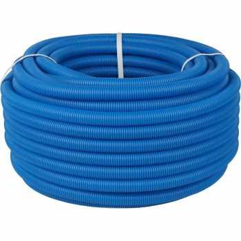 Stout Труба гофрированная ПНД, цвет синий, наружным диаметром 25 мм для труб диаметром 16-22 мм, длина 1 м SPG-0001-502520