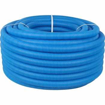 Stout Труба гофрированная ПНД, цвет синий, наружным диаметром 32 мм для труб диаметром 25 мм, длина 50 м SPG-0001-503225