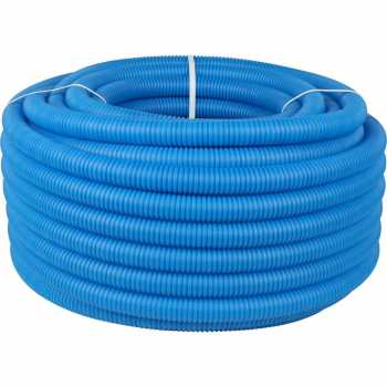 Stout Труба гофрированная ПНД, цвет синий, наружным диаметром 32 мм для труб диаметром 25 мм, длина 100 м SPG-0001-103225