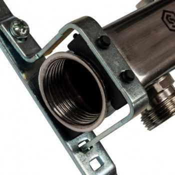 Stout Коллектор из нержавеющей стали для радиаторной разводки 2 вых. SMS 0923 000002