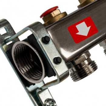 Stout Коллектор из нержавеющей стали без расходомеров 3 вых. SMS 0922 000003