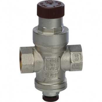 """Stout 1/2 Редуктор давления с давлением на выходе 1…4 бар с подсоединением для манометра 1/4"""" SVS-0010-000015"""