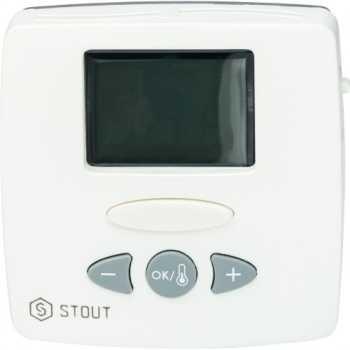 Stout Термостат комнатный электронный WFHT-LCD. С выносным датчиком STE-0002-000015