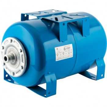 Stout Расширительный бак, гидроаккумулятор 20 л. горизонтальный (цвет синий) STW-0001-100020