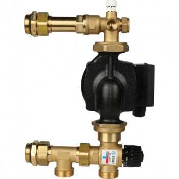 Stout Насосно-смесительный узел с термостатическим клапаном 20-43°C, с насосом UPSO SDG-0020-004001