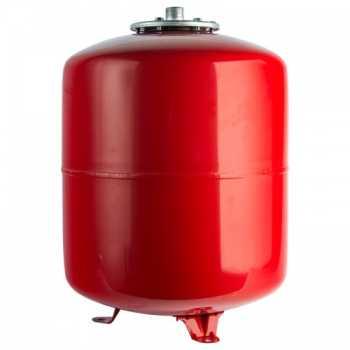 Stout Расширительный бак на отопление 100 л. (цвет красный) вертикальный STH-0006-000100