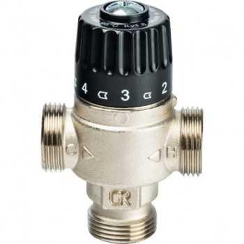 """Stout Термостатический смесительный клапан для систем отопления и ГВС 3/4""""  НР   30-65°С KV 1,8 SVM-0025-186520"""