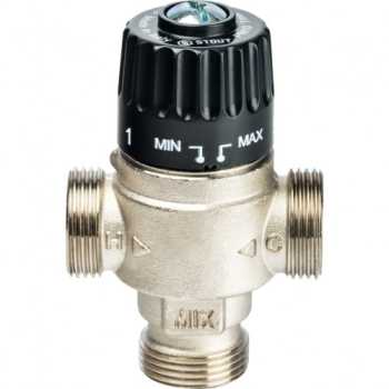 """Stout Термостатический смесительный клапан для систем отопления и ГВС 3/4""""  НР   30-65°С KV 2,3 SVM-0025-236520"""