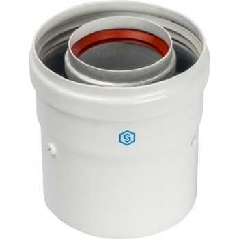 Stout Элемент дымохода DN60/100 адаптер для котла вертикальный коаксиальный (совместимый с Vaillant, Protherm NEW)(с логотипом) SCA-6010-230100