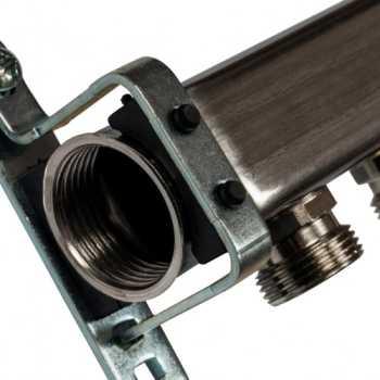 Stout Коллектор из нержавеющей стали для радиаторной разводки 6 вых. SMS 0923 000006