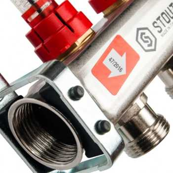 Stout Коллектор из нержавеющей стали с расходомерами 2 вых. SMS 0917 000002