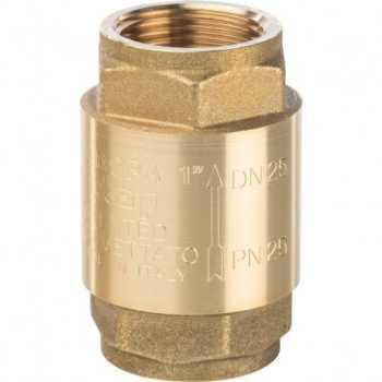 """Stout 1"""" Клапан обратный пружинный муфтовый с металлическим седлом SVC-0001-000025"""