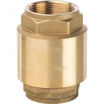 """Stout 1 1/2"""" Клапан обратный пружинный муфтовый с металлическим седлом SVC-0001-000040"""