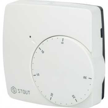 Stout Проводной электронный термостат WFHT-BASIC со светодиодом Н.О. STE-0002-000003